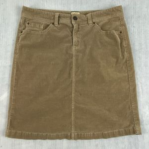 Heritage Denim by Bass Skirt Size 10 Brown Corduroy A-line Above the Knee Length